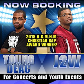 Popular South Arkansas Christian rappers J2W and Young Deac record new music at Nash, Texas recording studio