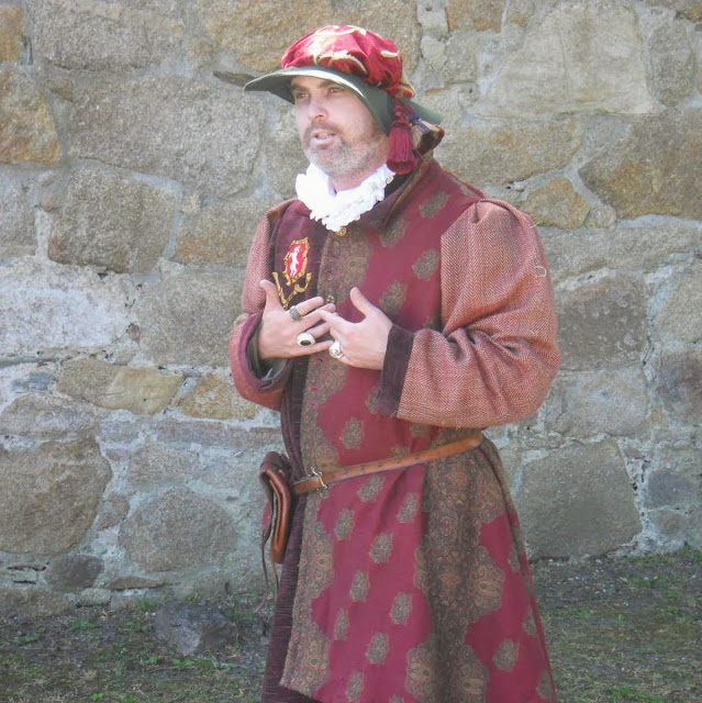 Actor in period costume at Dalkey Castle in Dublin Ireland