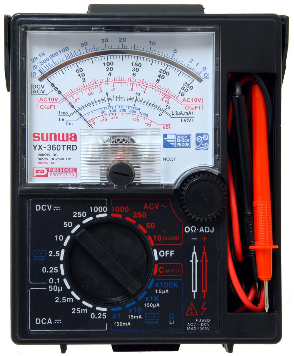 Cara membaca multimeter analog (jarum pointer) - OMBRO