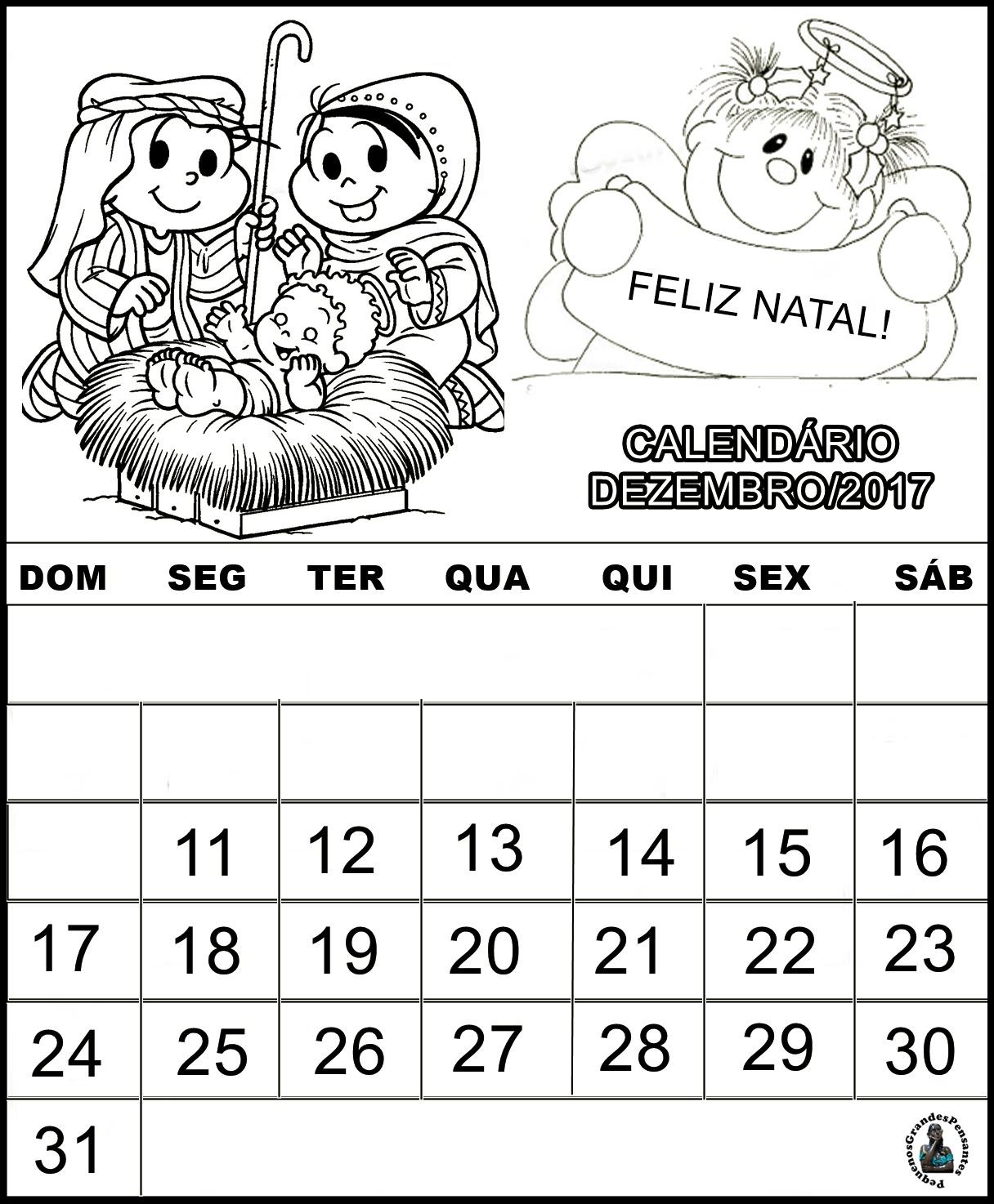 Pequenos Grandes Pensantes Calendários 2017 Turma Da Mônica