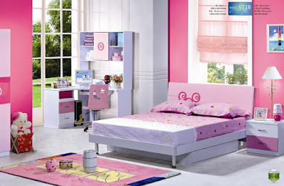 Pink colour for Teen Girls Bedroom Furniture Sets