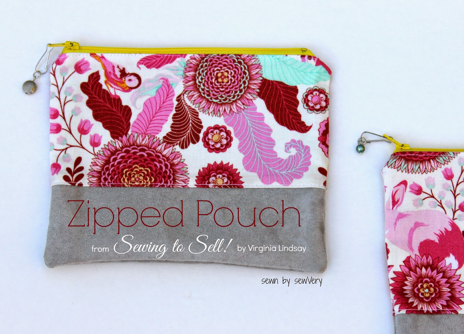 Sewvery sewing to sell book review zipped pouches for Quick and easy sewing projects to sell
