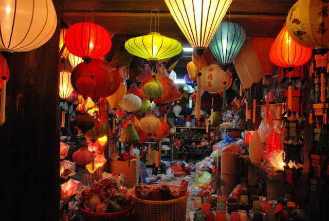 Lantern shop in Hoian