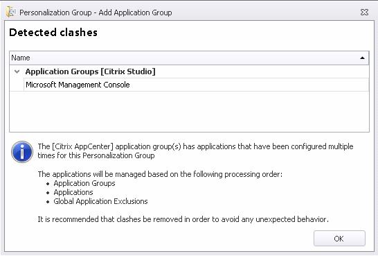 Roaming Citrix management consoles through AppSense Personalization