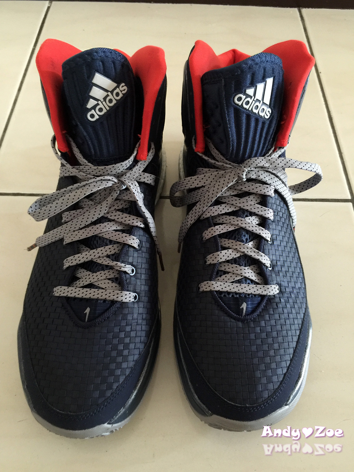 separation shoes 17c29 745f7 Zoe與Andy的生活筆記  adidas Derrick Rose 5 Boost  Woven Blues  愛迪達藍色編織籃球鞋開箱文