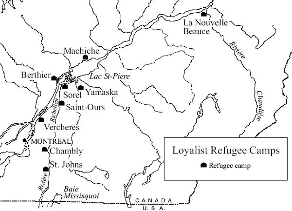 Sandwalk: Refugee camps in Canada (1775-1780)