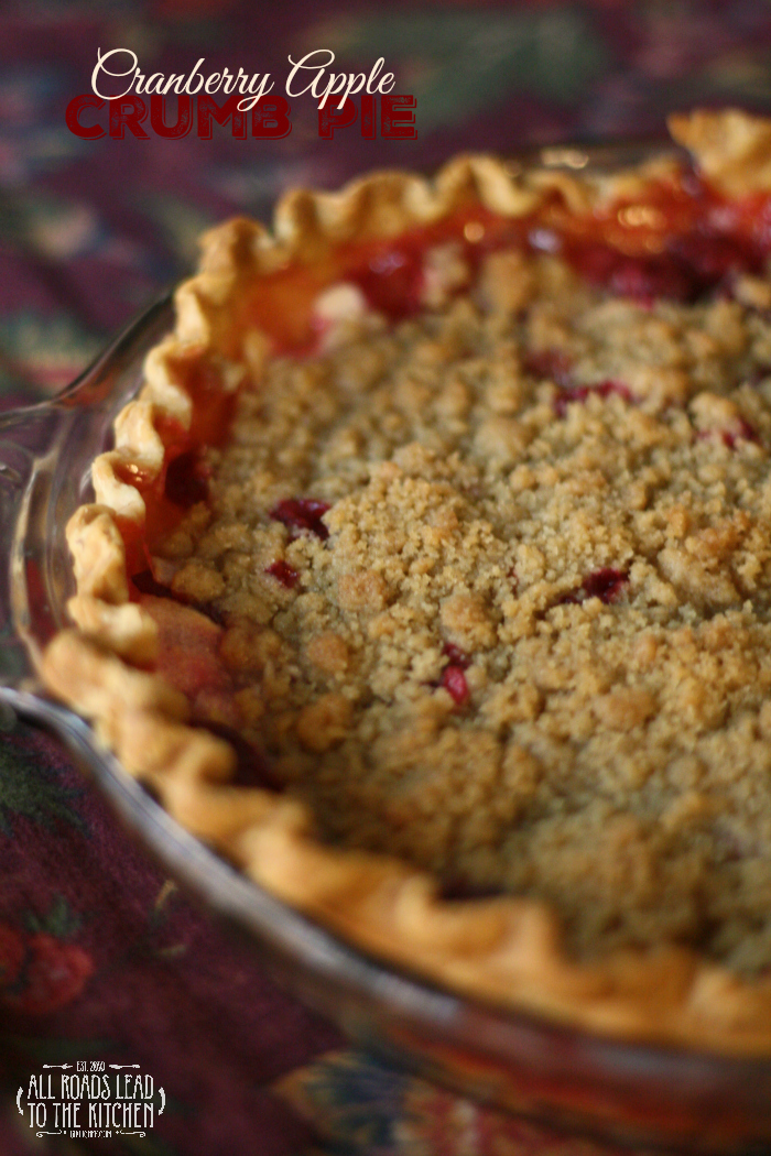 Cranberry Apple Crumb Pie #FridayPieDay