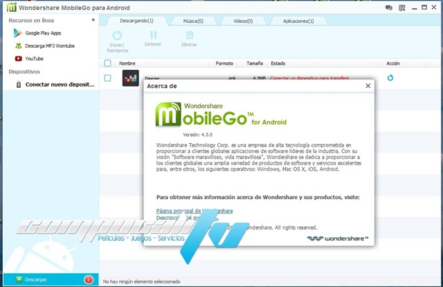 Wondershare MobileGo for Android 4.3.0.252 Español