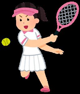 テニス選手のイラスト(アジア人女性)