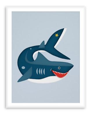 Nautical Nursery - Poster Shark