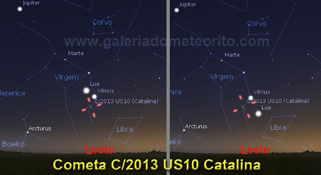 localização do cometa catalina em dezembro