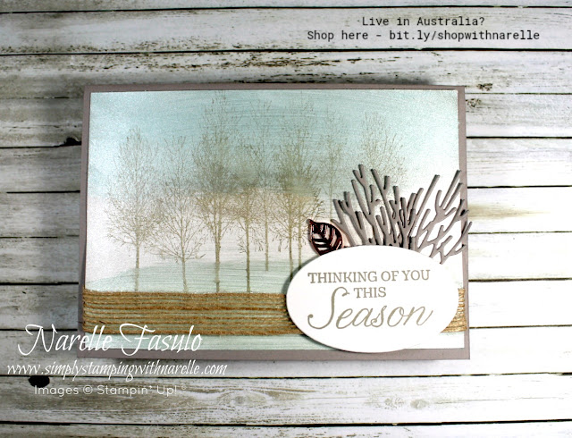 Need a stamp set for masculine cards, then check out the Winter Woods set here - http://bit.ly/2OAaDM1