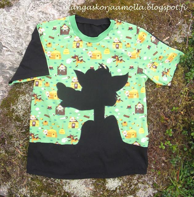 sepe susi kuvio paitaan