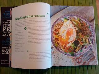 Prato de Noodles para a ressaca de Jamie Oliver, livro poupe com jamie