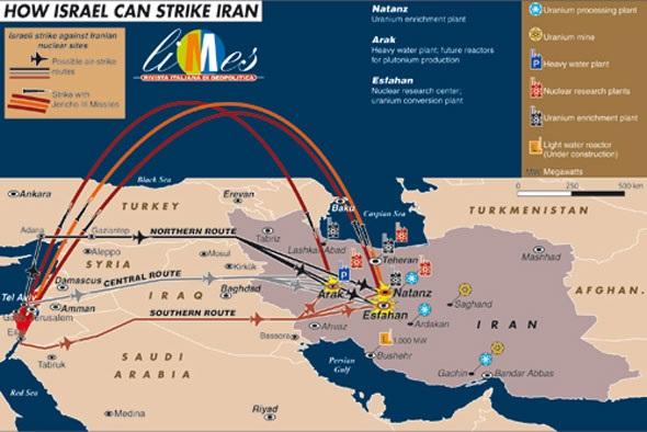 Peligrosa escalada de violencia entre irn israel y siria mapa de cmo israel puede atacar a irn business insider gumiabroncs Images