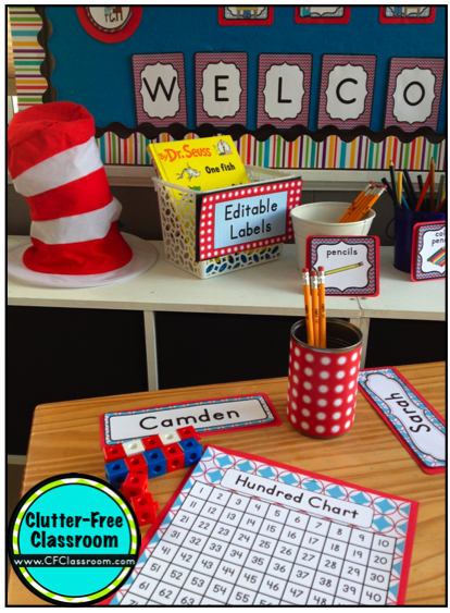 Classroom Job Ideas For 4th Grade : Dr seuss theme classroom clutter free