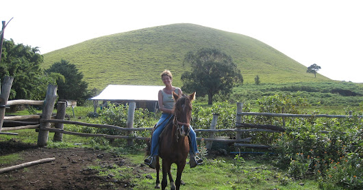 Exciting horse-ride across the Island and climbing the volcano crater