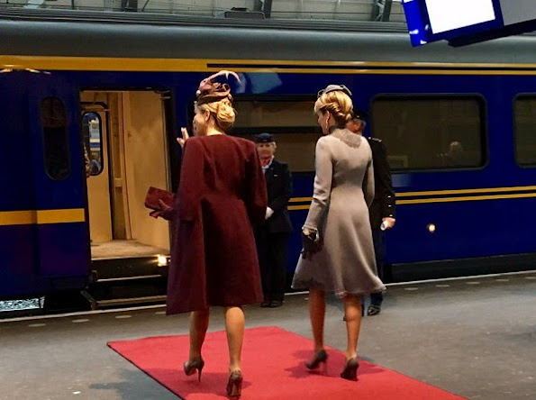 Fabienne Delvigne hat, Sergio Rossi pumps, Natan dress, Mathilde wore Designer: Esmeralda Ammoun dress, coat