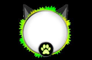 Toppers o Etiquetas de Fiesta de Cat Noir.