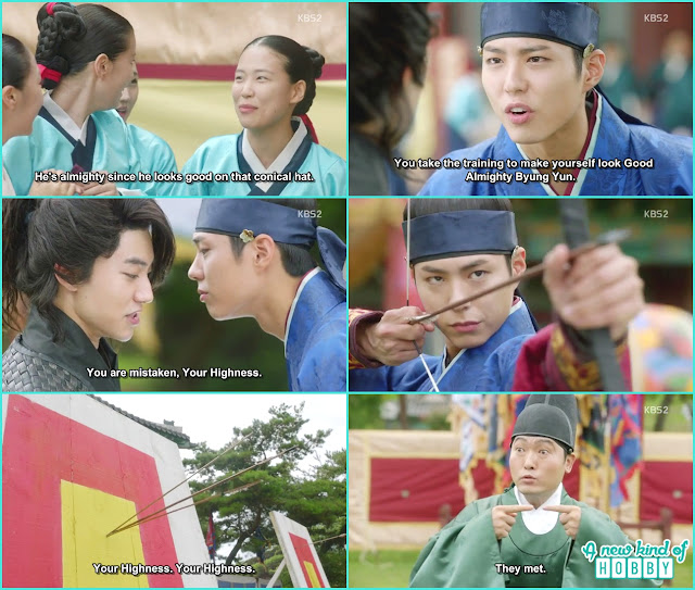 beyun yeon and crown prince arrow shooting  - Love in The Moonlight - Episode 3 Review