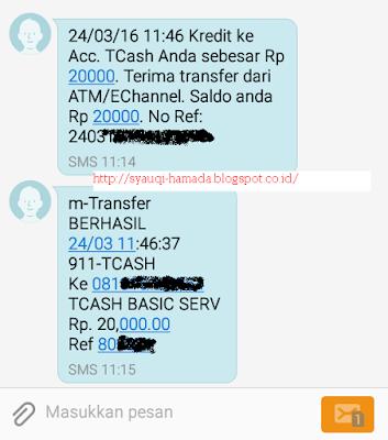 Isi Ulang Tcash Telkomsel Pakai Mobile BCA