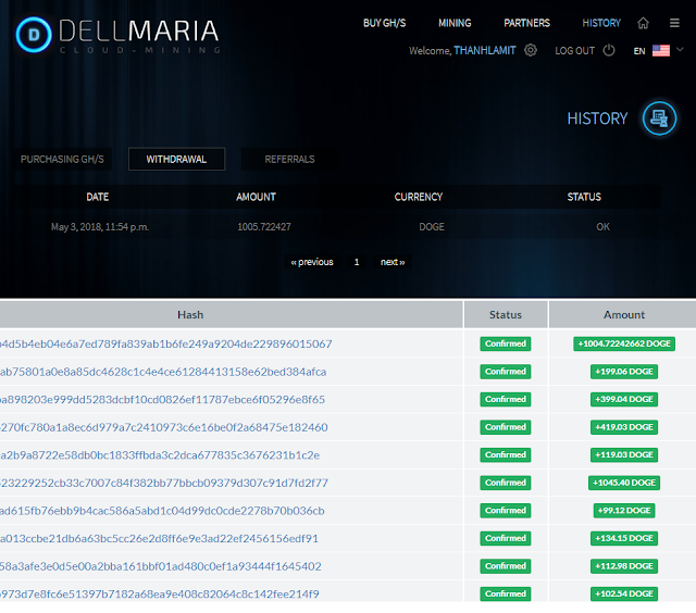 Dellmaria payment proof