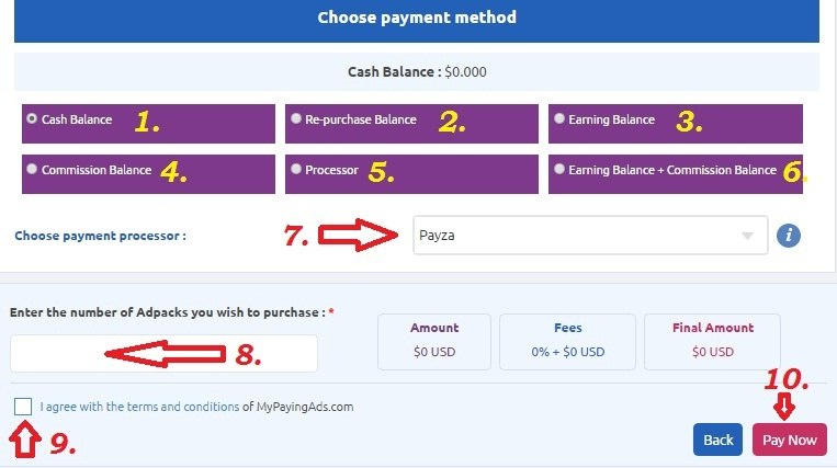 MyPayingAds ( MPA ) Par AdPack Kaise Purchase Kare. Full Guide .