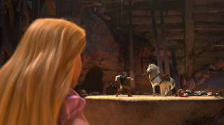 Scene from Tangled: Flynn Rider vs Maximus