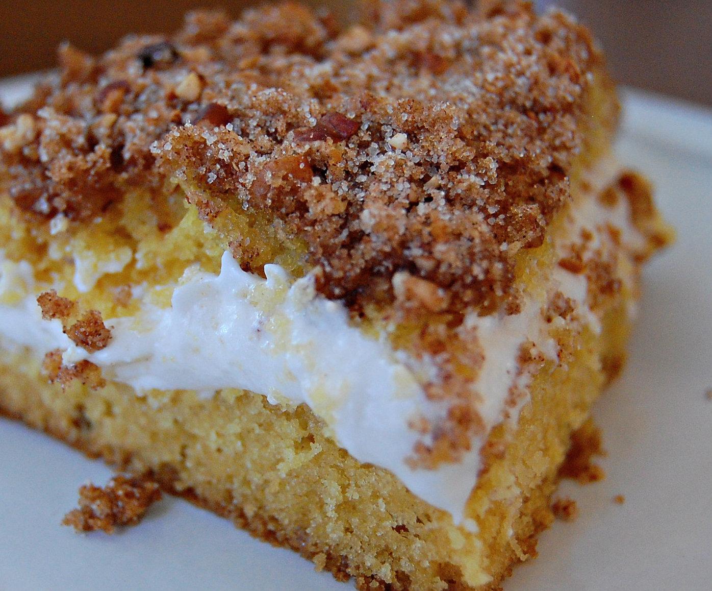 Cream Filled Streusel Coffee Cake
