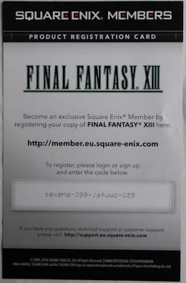 Final Fantasy XIII - Tarjeta Square