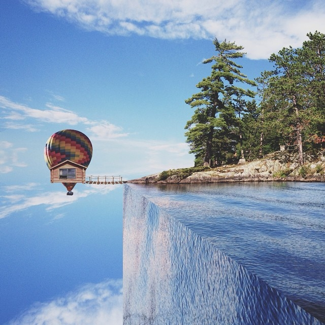 08-The-Lake-House-Laurent-Rosset-Surreal-Photo-Manipulations-of-the-World-Around-Us-www-designstack-co