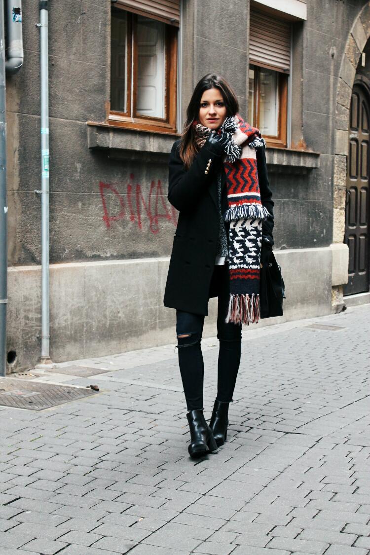 look abrigado maxi bufanda blog de moda leon
