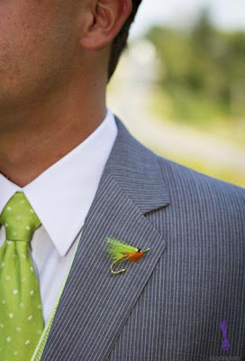 K'Mich Wedding - wedding planning - boutonniere fishing lure