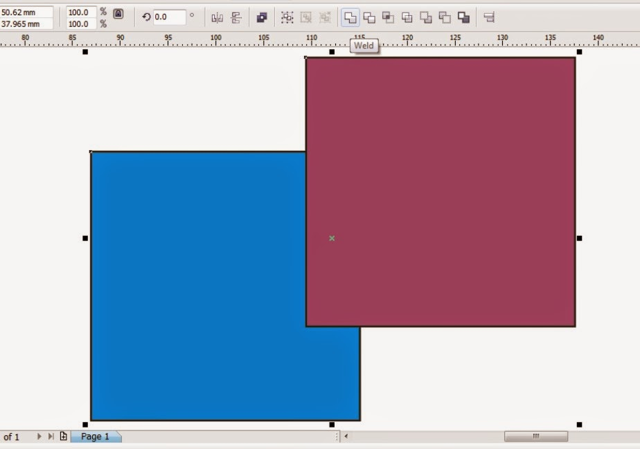 How to Use Trim and Weld on CorelDraw
