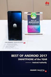 سلسة هاتف هواوي مايت 10 برو وسلسلة واي فاي كيو 2 تحصدان جوائز مرموقة في معرض الالكترونيات الاستهلاكية 2018