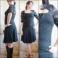 Outfit All Black Lace and Skirt
