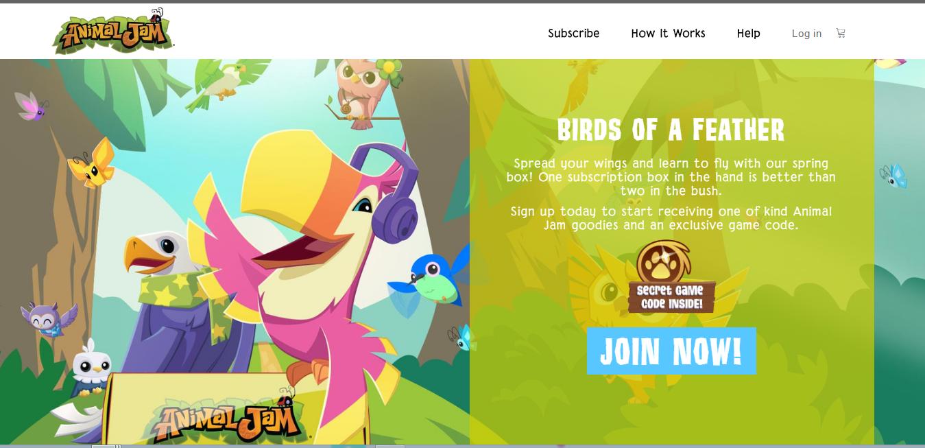 Animal Jam Budgie: Spring box!