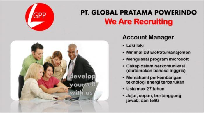 Lowongan Kerja Account Manager PT Global Pratama Powerindo