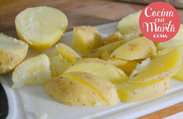 patatas deluxe, receta deluxe, patatas gajo, rápida, fácil, patatas, cocina con marta