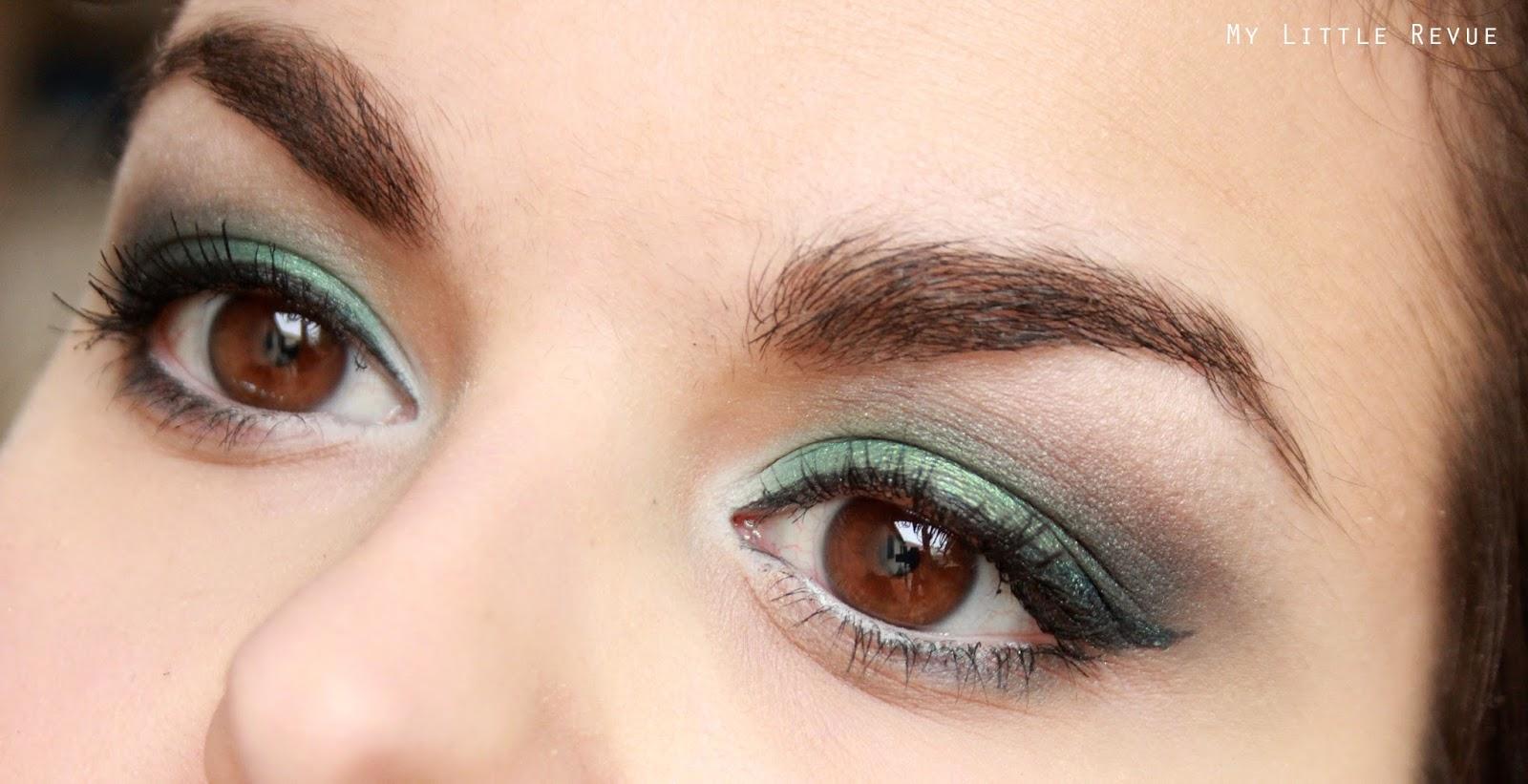 maquillage vert pour une soirée