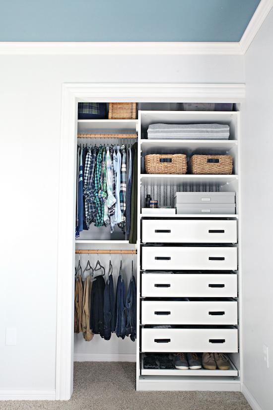 dade74973b09 An Organized Teen Boy Closet | IHeart Organizing | Bloglovin'