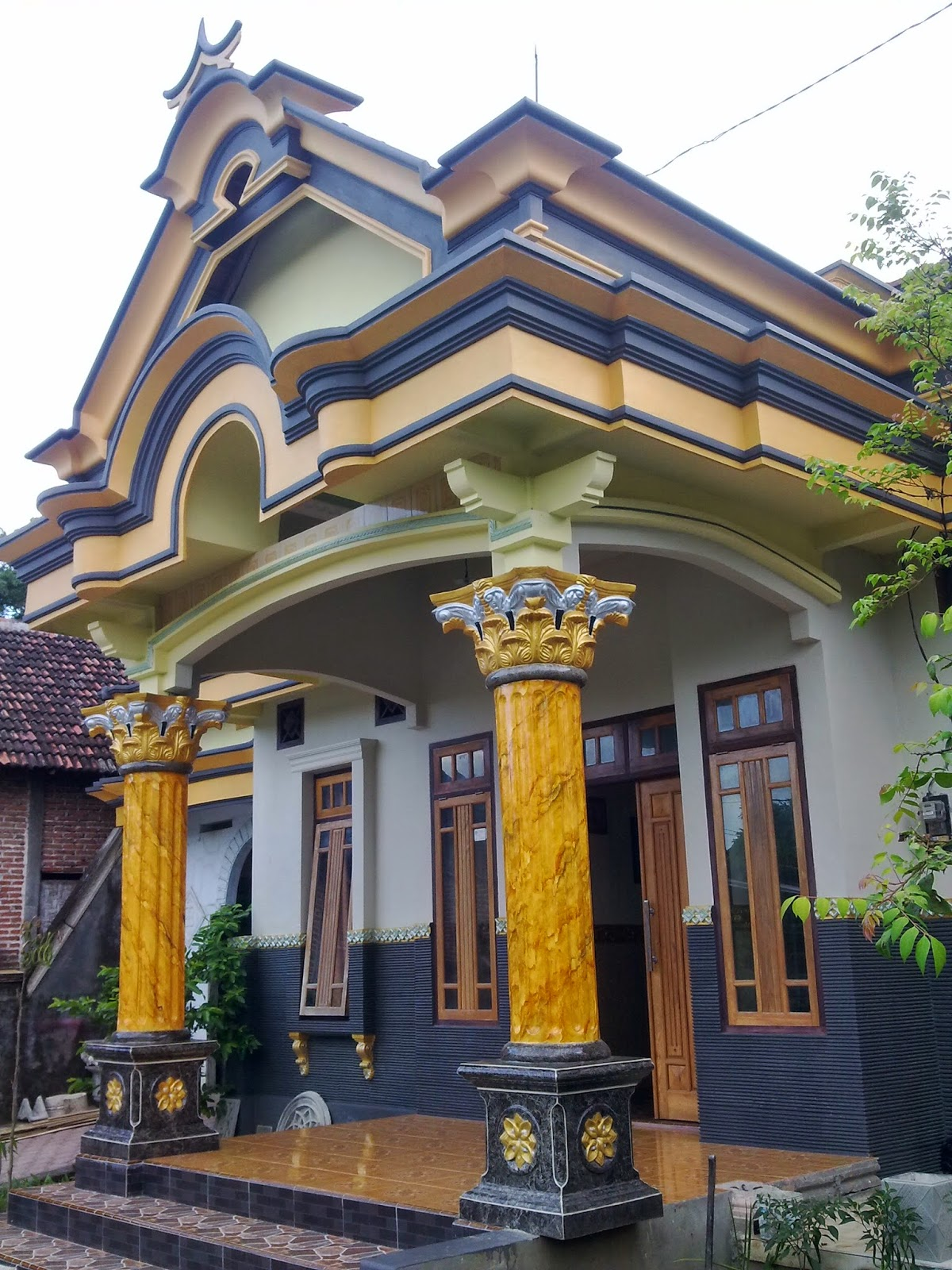 65 Lisplang Teras Rumah Joglo Sisi Rumah Minimalis