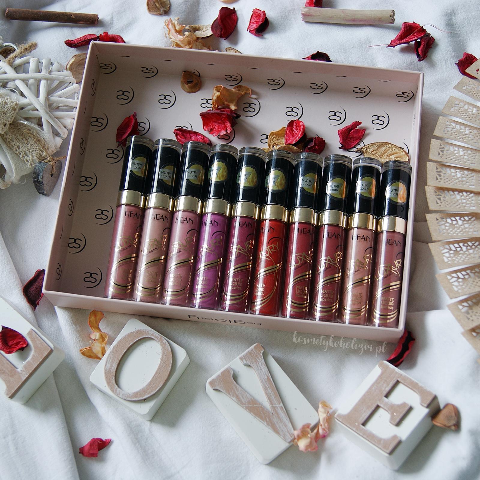 HEAN LUXURY Liquid Matte Lipstick | Przegląd kolorów | Swatche na ustach