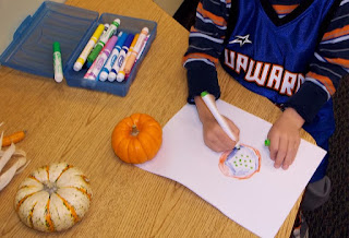 drawing pumpkins (Brick by Brick)