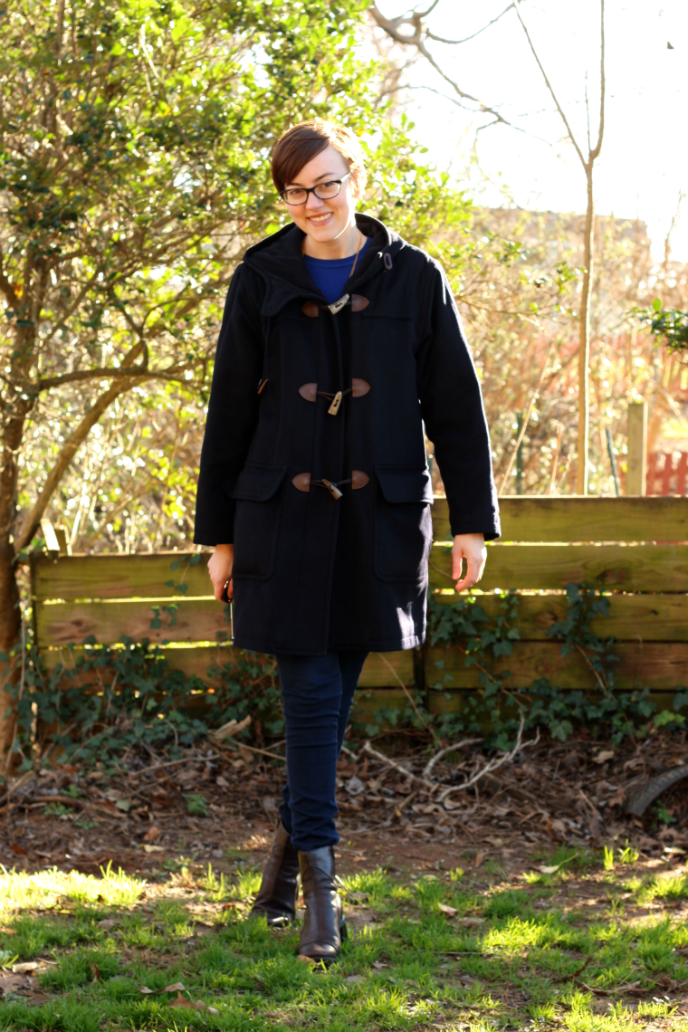 lands end wool toggle coat