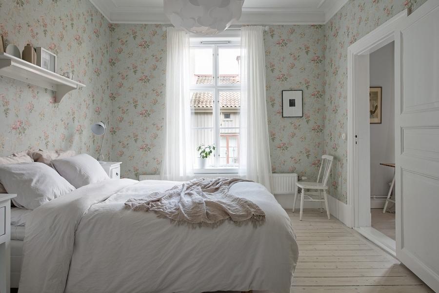 Skandynawsko - francuski apartament, wystrój wnętrz, wnętrza, urządzanie mieszkania, dom, home decor, dekoracje, aranżacje, styl francuski, styl skandynawski, scandi, French style, Scandinavian style, jasne wnętrza, bright interiors, sypialnia, bedroom