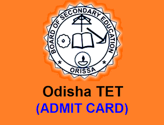 OTET Orissa Admit Card Download 25 September Exam Hall Ticket