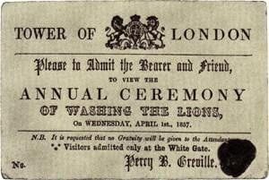 Annual Ceremony Of Washing The Lions