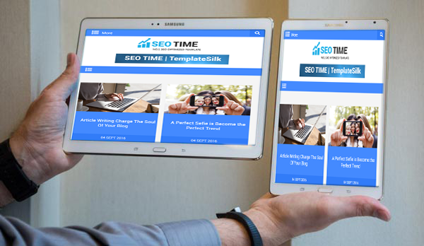 seo time responsive blogger template