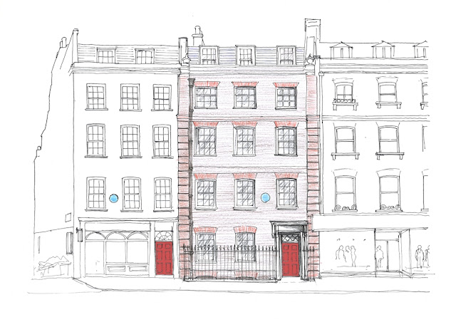 Plans for the restored frontage to Handel's house in Brook Street